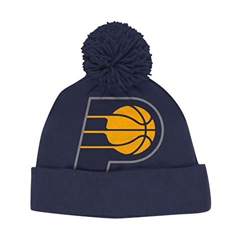 Amazon.com   adidas Indiana Pacers Solid XL Logo Cuffed Pom Knit ... 89085d64e15
