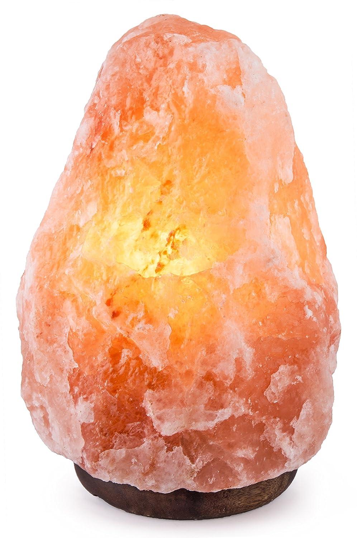 高品質 Homankit ヒマラヤ岩塩ランプ 2~3kg 空気浄化と癒しの灯り ソルトランプ 天然塩製