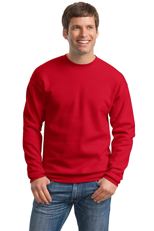 Hanes Mens ComfortBlend EcoSmart Crewneck Sweatshirt, XL, Deep Red P160
