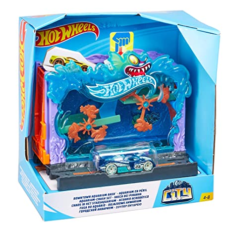 Hot Wheels City Pista de coches Aquarium (Mattel FRH32)