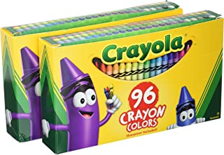 product image for Crayola Crayons, Sharpener Included, 96 Colors (Pack of 2)