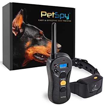 PetSpy P620 Dog Training Shock Collar for Dogs with Vibration, Electric Shock, Beep
