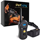 PetSpy P620 Dog Training Shock Collar for Dogs with Vibration, Electric Shock, Beep; Rechargeable and Waterproof Remote Trainer E-Collar - 10-120 lbs