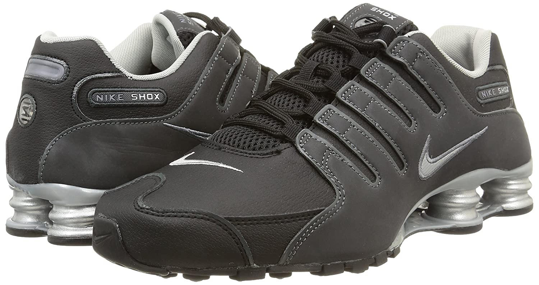 37f3def56521c NIKE Shox NZ EU, Pantoufles Homme, Noir (Schwarz), 43 EU  Amazon.fr   Chaussures et Sacs
