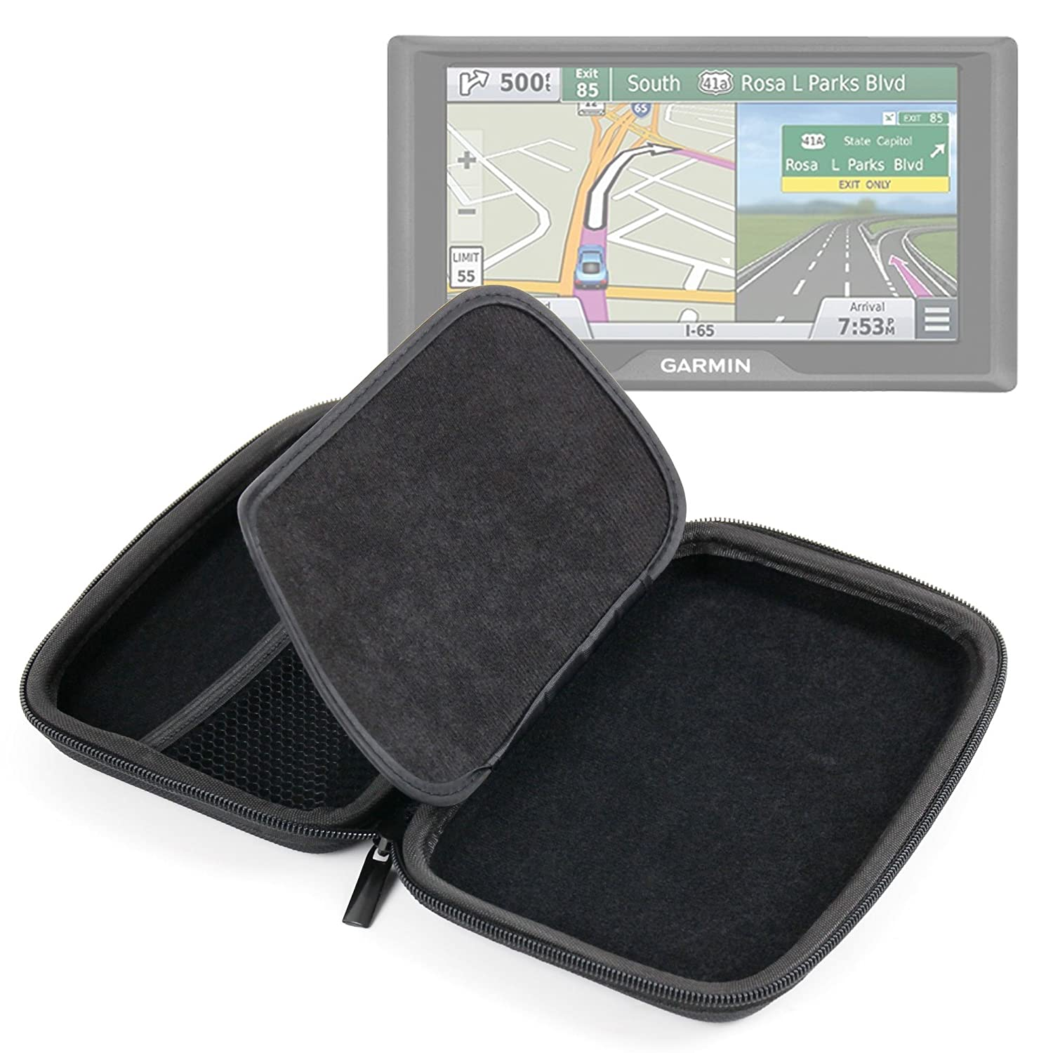 DURAGADGET Premium Quality 7-inch Hard Shell EVA Case in Black for the NEW Garmin Drive 60 LM / 60 LMT Satnavs DURAGAGET 5054646696580