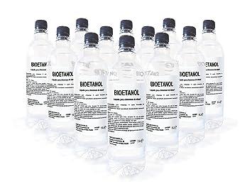 Caja 12 Botellas de 1 litro de Bioetanol F: Amazon.es: Bricolaje y herramientas