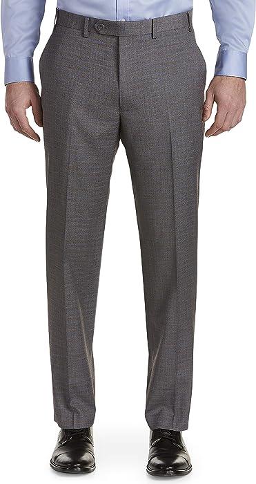 d9076865f86 Michael Kors Big and Tall Grid Flat-Front Suit Pants at Amazon Men s ...