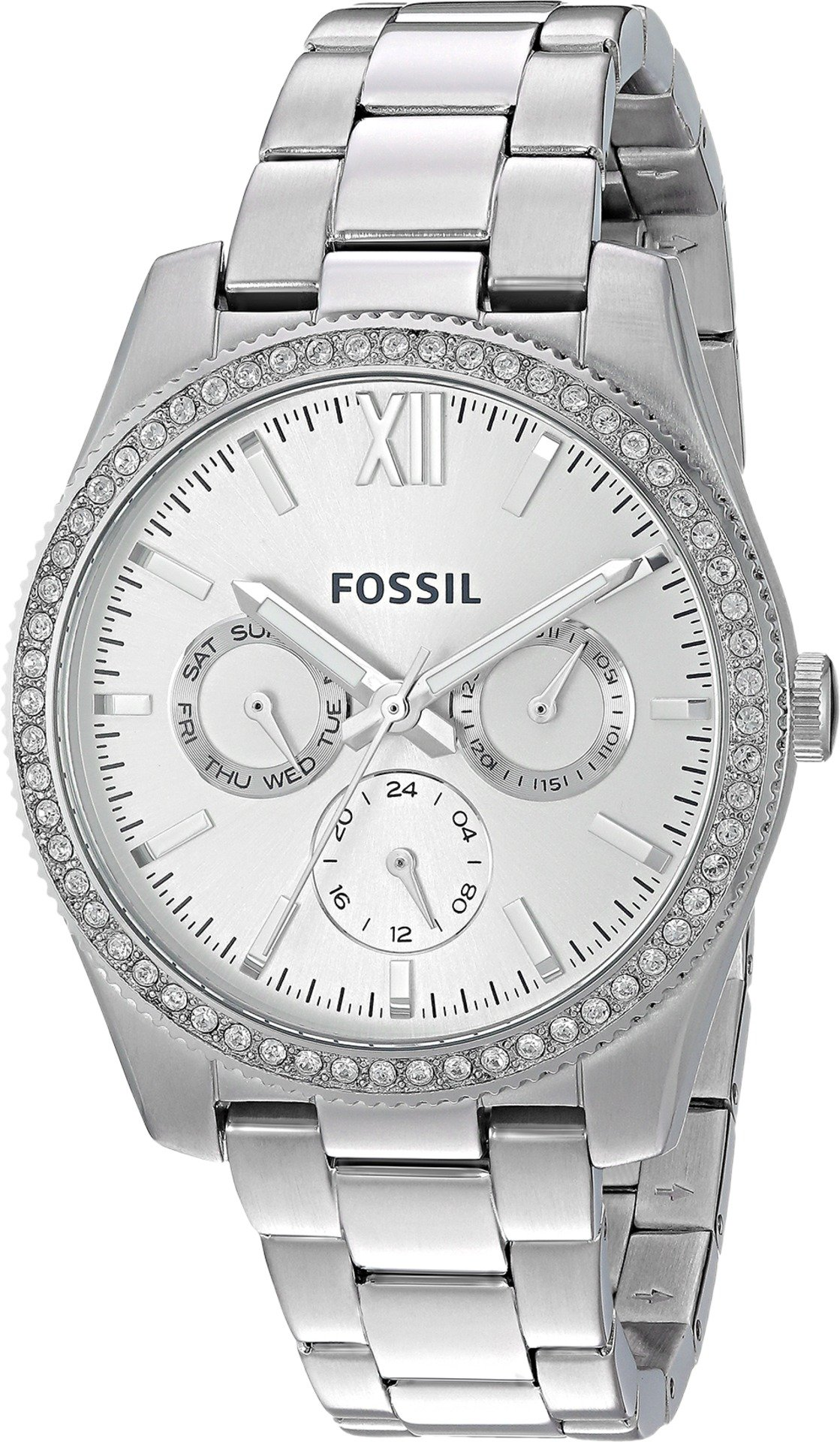 Fossil Women's 'Scarlette' Quartz Stainless Steel Casual Watch, Color:Silver-Toned (Model: ES4314)