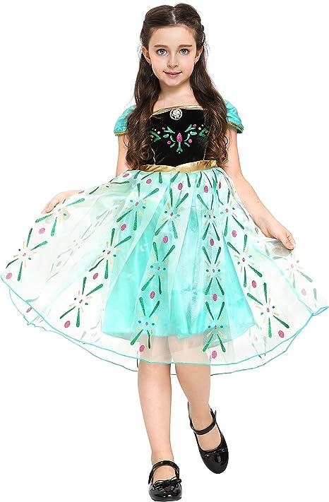 Katara 110 - Disfraz de la reina del hielo Elsa, color verde ...