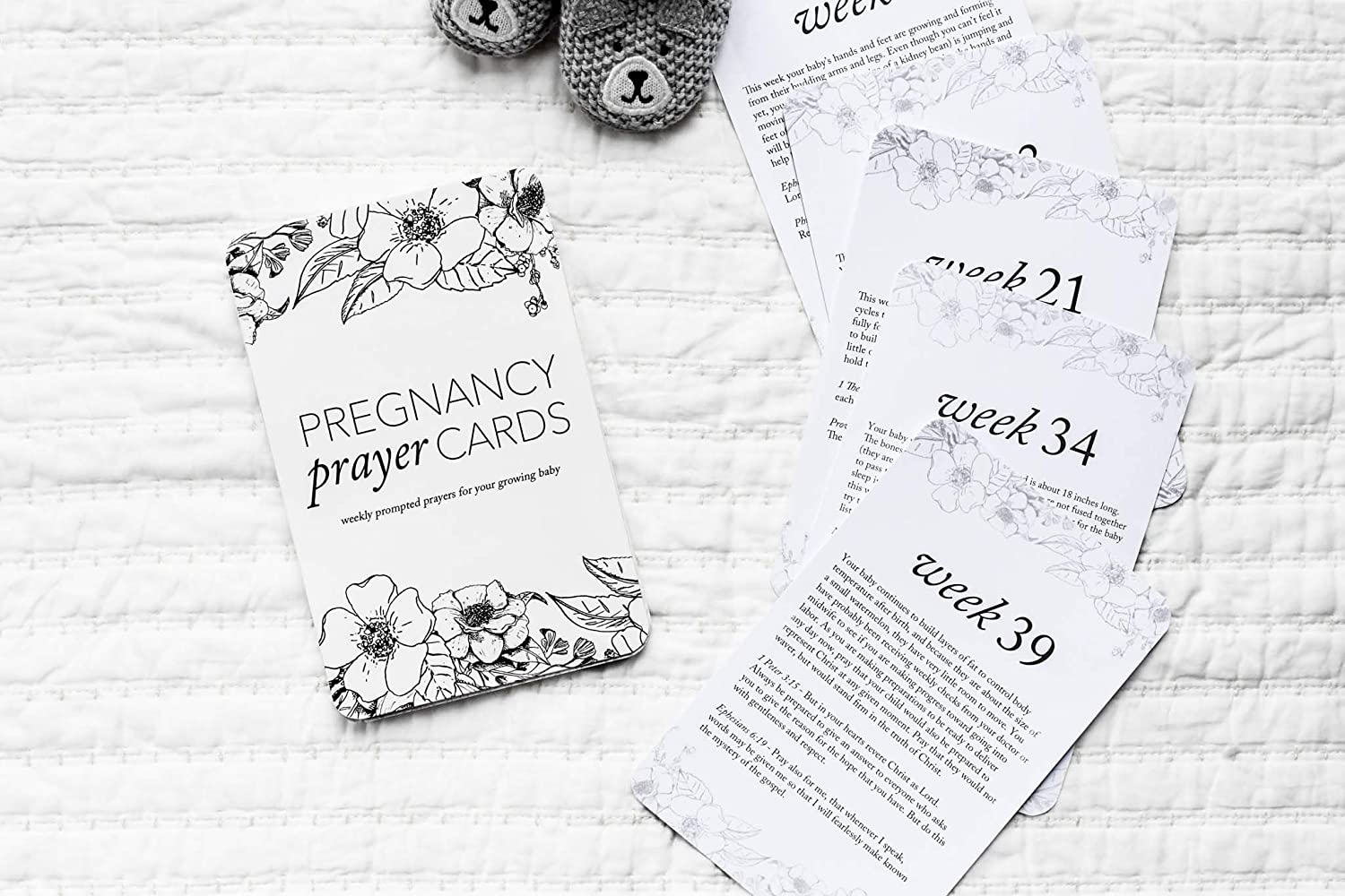 Pregnancy Prayer Cards Expecting Mom Gift /& Pregnancy Announcement