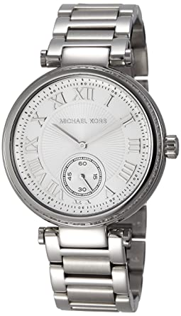 adc3fb318732 Image Unavailable. Image not available for. Color  Michael Kors Women s  MK5866 - Skylar Stainless