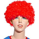 Innova® 80s Curly Afro Wig Party Clown Funky Disco Kids Childs Adult Costume Hair (Red)