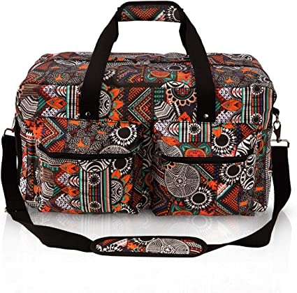 Unisex Duffel Hand Luggage Canvas Duffle Bags Travel Backpack Tote Gym