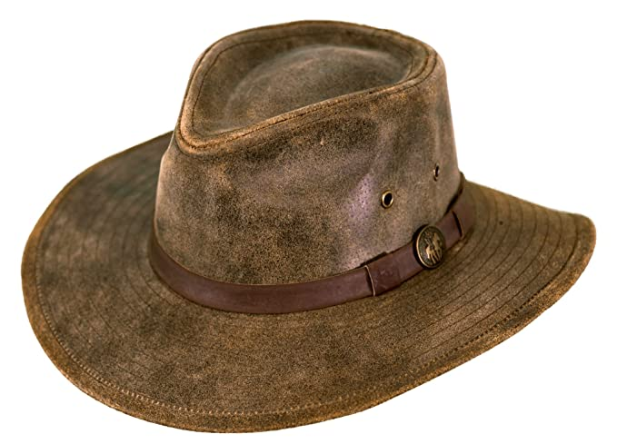 Outback Trading Co Men s Co. Kodiak Leather Hat - 1356 at Amazon ... 66a640f711b8