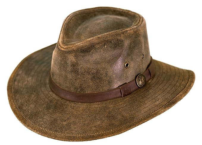 e02e33dd4aa Outback Trading Co Men s Co. Kodiak Leather Hat - 1356 at Amazon Men s  Clothing store