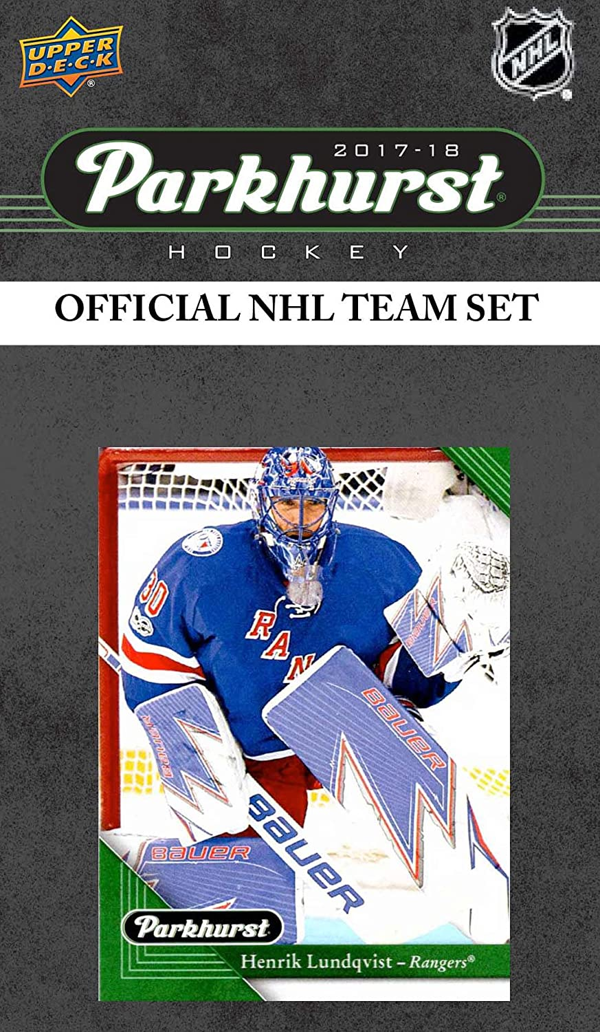 Upper Deck New York Rangers 2018 2019 PARKHURST Series Factory Sealed Team Set Including Henrik Lundqvist Marc Staal and Mats Zuccarello Plus 7 Others