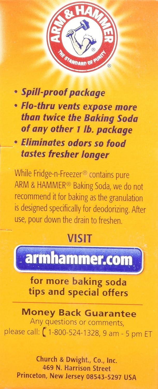 Amazon.com  Arm   Hammer Fridge-N-Freezer Baking Soda Odor Absorber ... c45ef542f