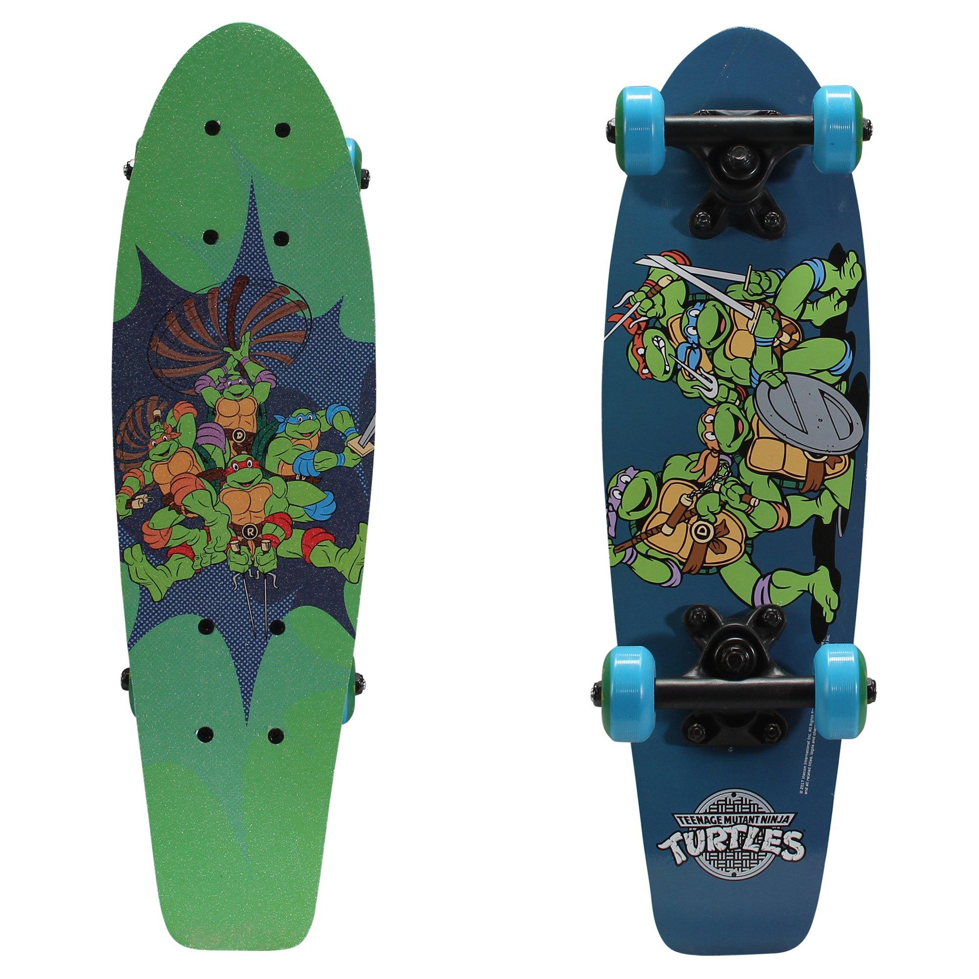 PlayWheels Teenage Mutant Ninja Turtles 21'' Wood Cruiser Skateboard, Ninja Power by PlayWheels