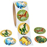 """Roll of Dinosaur Stickers (100 Pack) 1 1/2"""""""