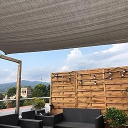 Sol Royal SolVision HS9 Vela de Sombra Toldo Parasol 400x300 cm HDPE Transpirable Crema protección UV: Amazon.es: Jardín
