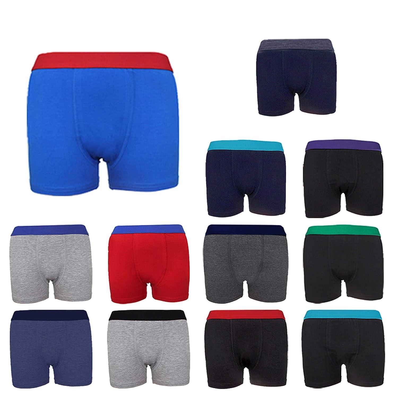4 Pack Boys Cotton Boxer Shorts Underwear Age 4 5 6 7 8 9 10 11 12 13 14 15