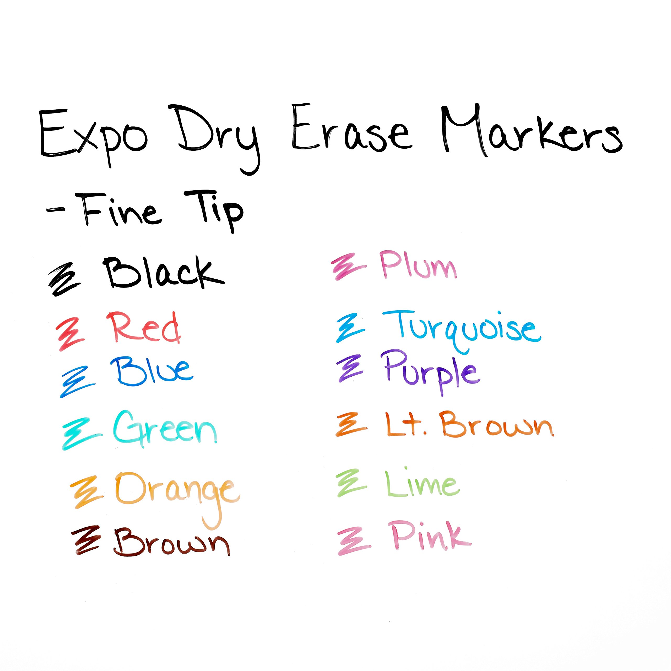 EXPO Low-Odor Dry Erase Markers, Fine Tip, Assorted Colors, 36 Count by Expo (Image #5)