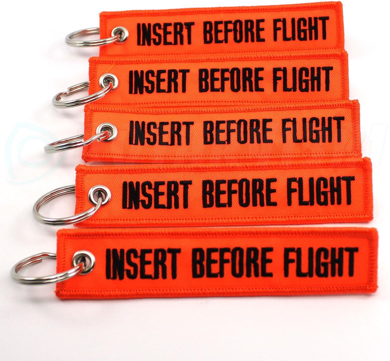 Neon Orange//black 5PCS by Rotary13B1 Insert Before Flight Keychain