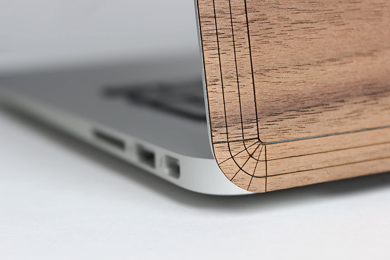 met/à 2018 in vero legno di noce naturale modello: A1706//A1708//A1989; fine 2016 Skin adesiva in vero legno per MacBook Pro da 13 pollici con//senza barra touch screen WOODWE