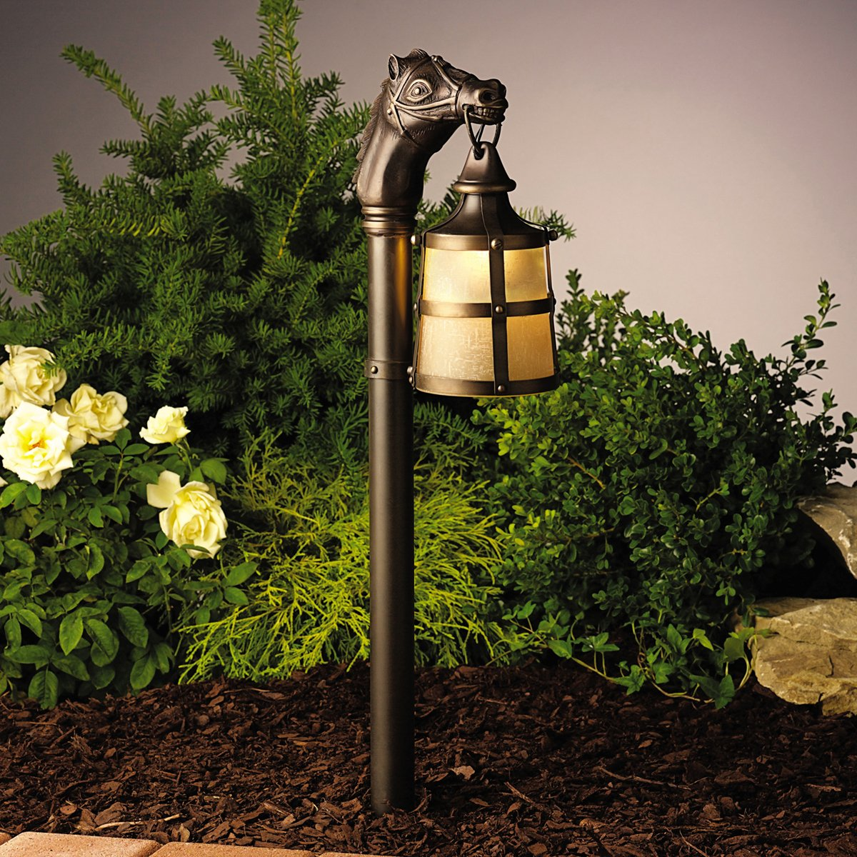 Kichler 15393OZ Landscape 12 Volt Low Volt Solid Brass Landscape Path Lighting Xenon Olde Bronze