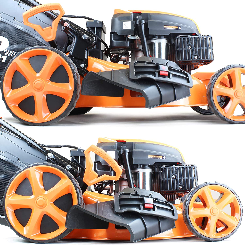 18 inch 139CC Hyundai Powered Self Propelled P4600SP P1PE 4-Stroke Petrol Lawnmower Cutting Width 46cm