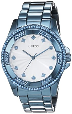 3f06be258c14 Guess Reloj analogico para Mujer de Cuarzo con Correa en Acero Inoxidable  W0702L1  Amazon.es  Relojes