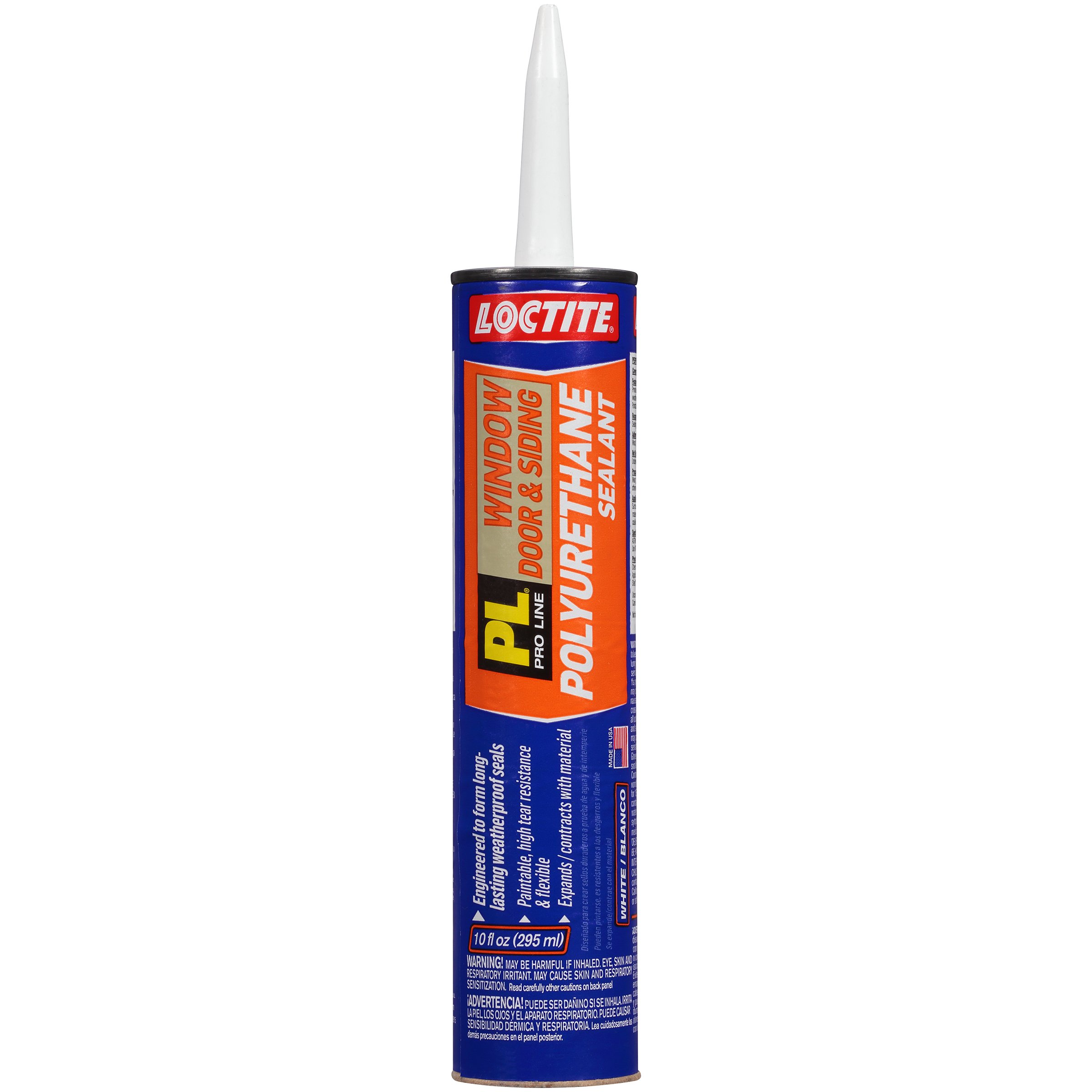 Loctite PL S40 Polyurethane Window, Door and Siding Sealant, 10 Ounce Cartridge, White, 12-Pack (1618182-12)
