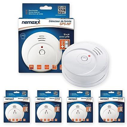 Nemaxx SP5 Detector de Humo NF - Calidad Detector - Detector de Fuego Certificado DIN En
