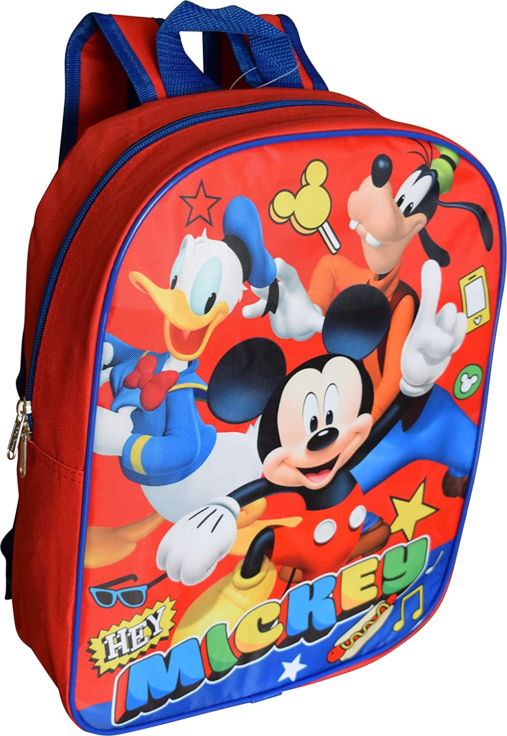 Disney Mickey Mouse 15 Backpack Red-Blue