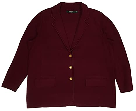 d6d0651db6a Lauren Ralph Lauren Plus Size Cotton Sweater Blazer at Amazon ...