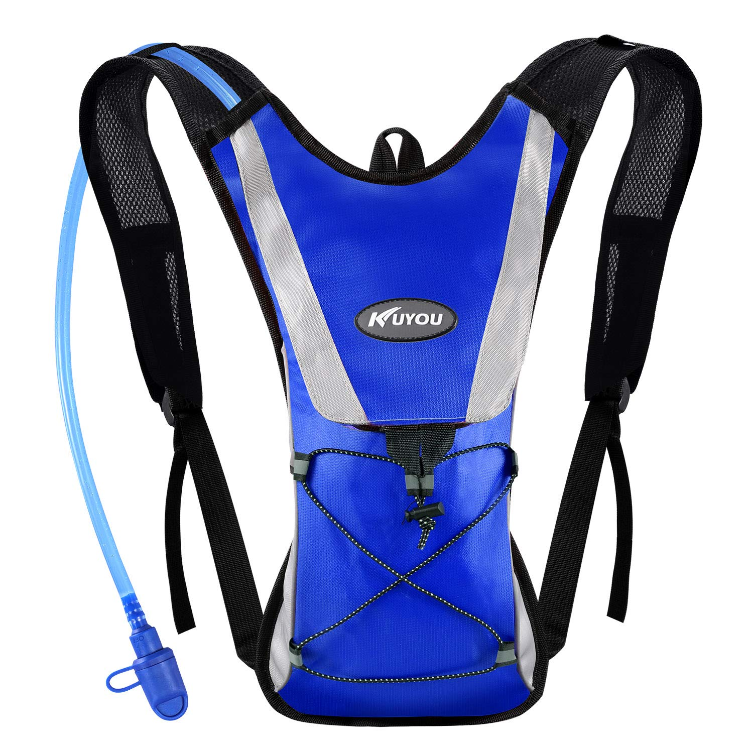 KUYOU Hydration Pack Water Rucksack Backpack Bladder Bag Cycling Bicycle Bike/Hiking Climbing Pouch + 2L Hydration Bladder,(Blue+Water Pouch) by KUYOU