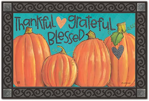 Grateful Thanksgiving Doormat Fall Indoor Outdoor 18 x 30 MatMates