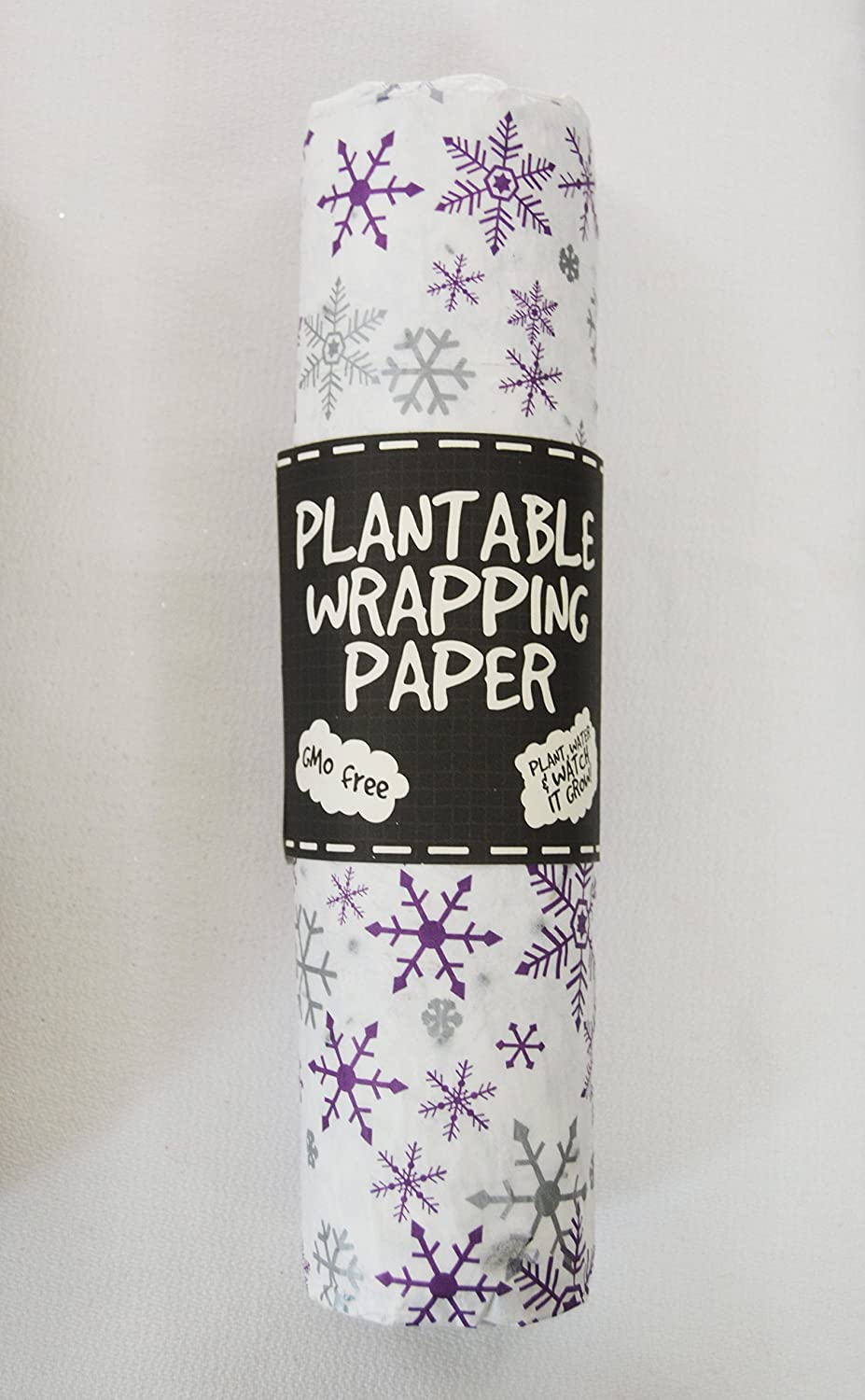 Amazon com: Plantable Wrapping PaperSet of 2 (Snowflake