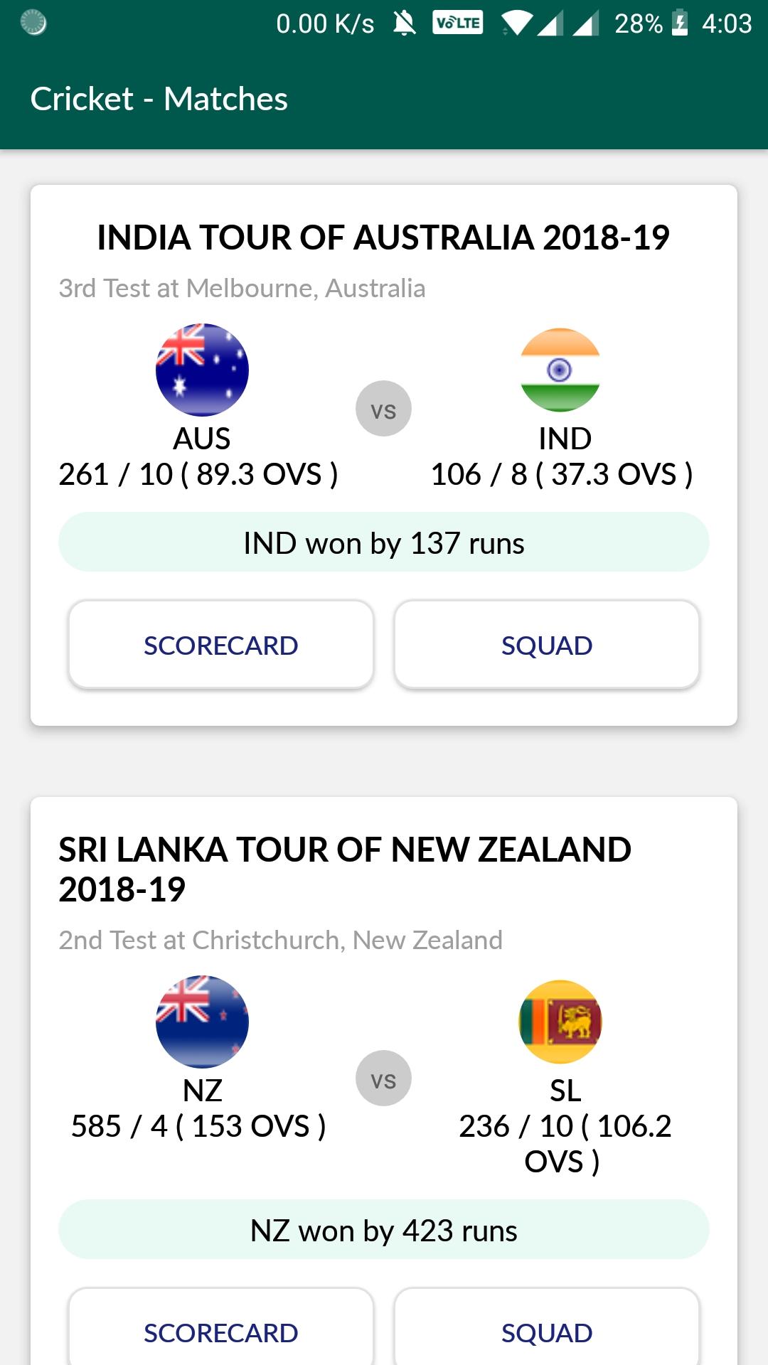 Cricket Live Score - Ball to ball Commentary: Amazon ca