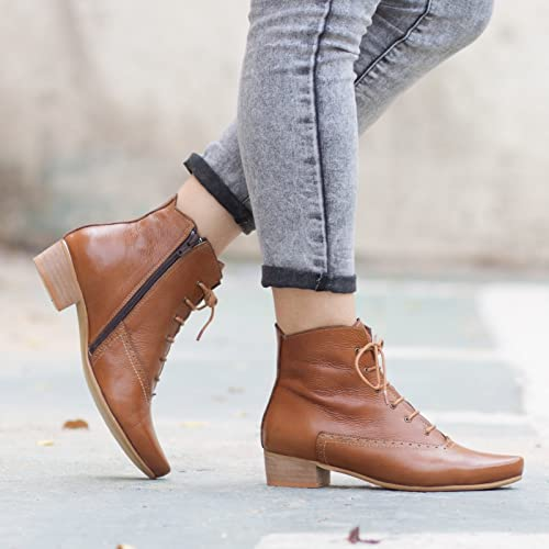 302dfed55a6c Image Unavailable. Image not available for. Color  Camel Women s Leather  Ankle Boots