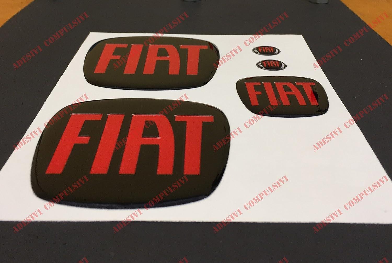 Logo delantero y trasero, volante y 2 logos para el llavero, Para capó y maletero. Adhesivos de resina, efecto 3D. Color negro o rojo: Amazon.es: Coche y ...