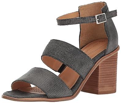 Corso Como Women's Sus Heeled Sandal, Black Square Laser Leather/Black  Stripe Laser Leather