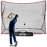 Heavy Duty Golf Net 10 X 7 - Perfect Golf Practice Net for Indoor Outdoor Garage Backyard Golf Practice. Golf Hitting…