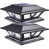 Siedinlar Solar Post Lights Outdoor 2 Modes LED Deck Fence Cap Light for 4x4 5x5 6x6 Posts Patio Garden Decoration Warm…