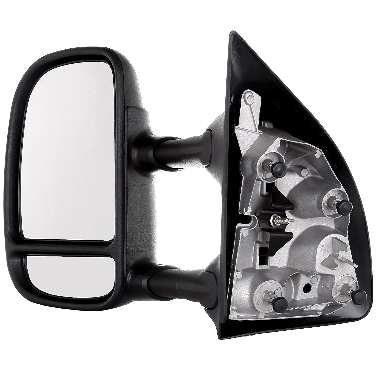 ECCPP Towing Mirrors Replacement fit for 99-07 Ford F250 F350 F450 F550 Power Heated Telescopic Black View Mirror Pair Set Left Driver Right Passenger Side 050261-5211-1620456