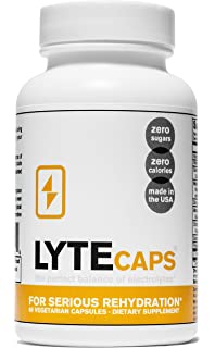 Electrolyte Replacement Tablets for Serious Rehydration by LyteCaps | Avoid Cramps & Dehydration | Magnesium,