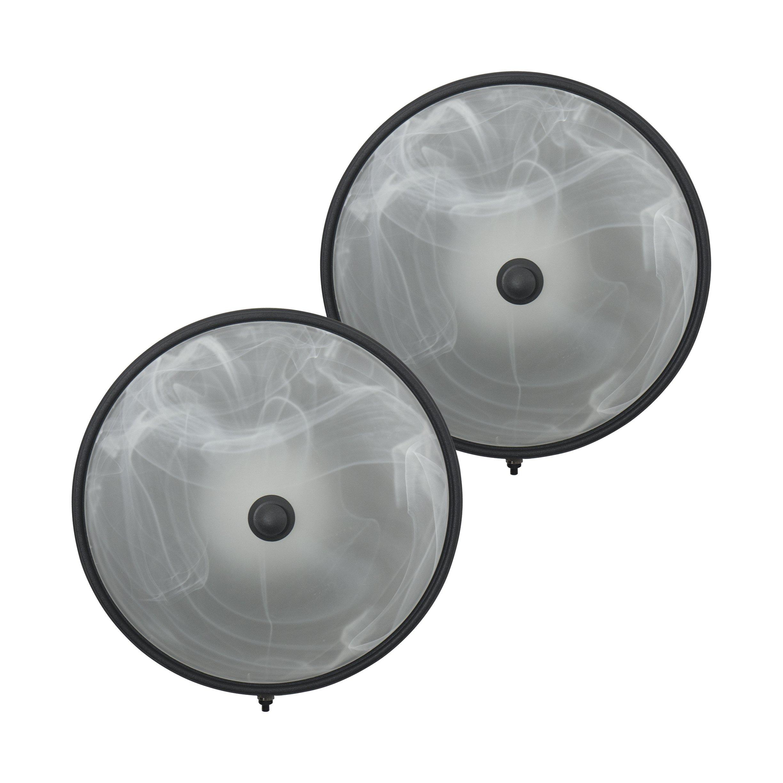 RecPro 2 RV Trailer Ceiling Light 12v LED Black by RecPro