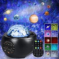 Proyector Estrellas, Lampara Estrella Infantil Proyector Galaxia con 10 Planetas Altavoz Bluetooth Control Remoto 32…