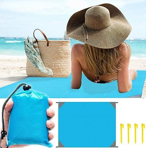 Manta picnic 200x200cm negro azul camping BBQ humedad protección playa manta manta