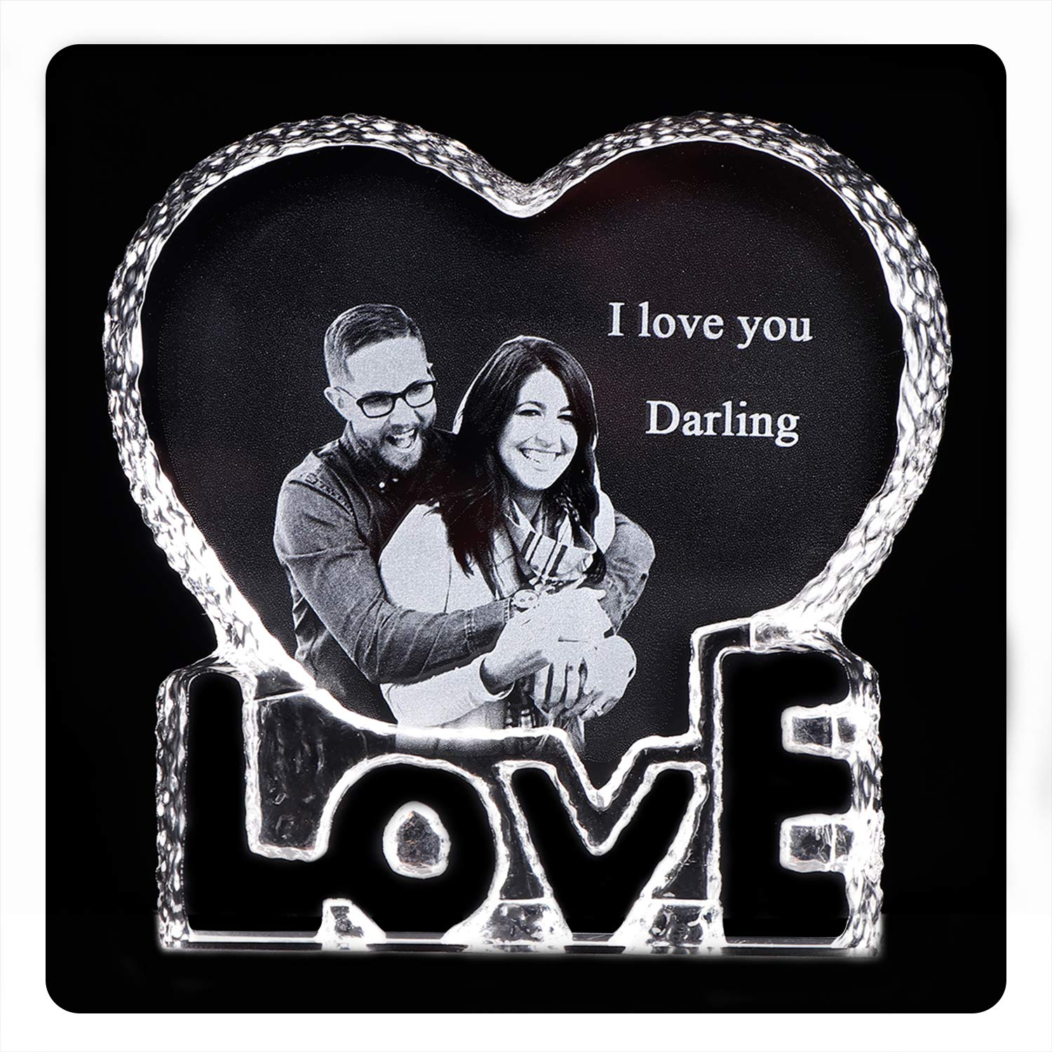 Amazon.com - YWHL Personalized Custom Photo Gifts Crystal Wedding Anniversary Sculpture for Him Husband Boyfriend Her Wife Girlfriend -